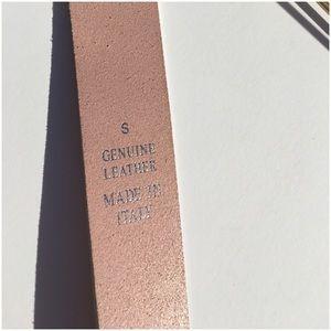 Express Accessories - Pink Genuine Leather Belt